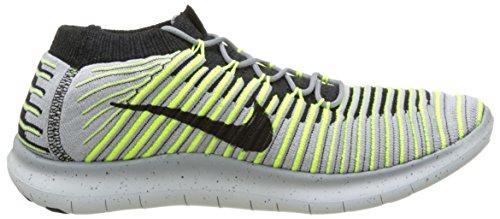 Nike Herren Free Rn Motion Flyknit Laufschuhe Grau (Wolf Grey/Black Volt Cool Grey)