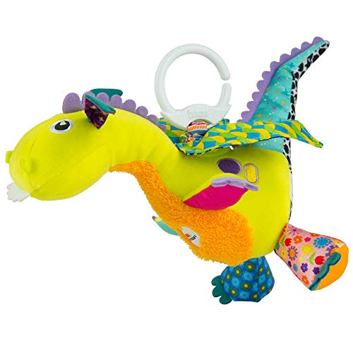 """Lamaze Baby Spielzeug """"Diego, der fliegende Drache"""" Clip & Go - hochwertiges Kleinkindspielzeug - Greifling Anhänger zur Stärkung der Eltern-Kind-Beziehung - ab 0 Monate"""