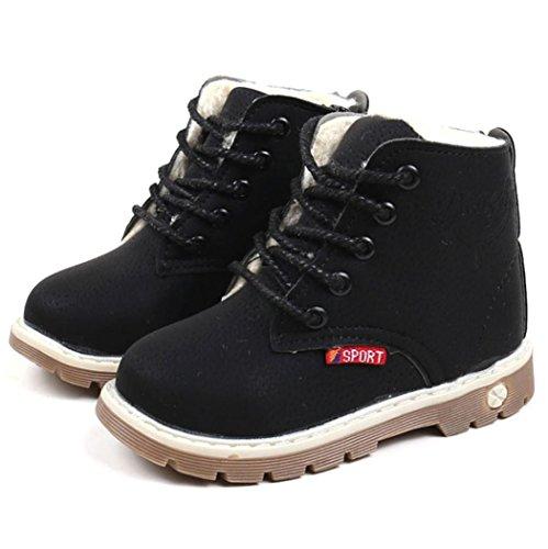 Martin Stiefel Jamicy® Winter-heiße Verkaufs Dicker Baumwollstiefel Klassische Schuhe Rutschfeste Halten Warme Schneeaufladungen Für Jungen mädchen (EU:30, Schwarz)