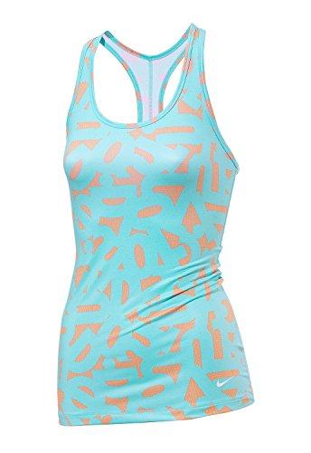 Nike G87 Débardeur de sport à imprimé pour femme Bleu - Bleu/Orange