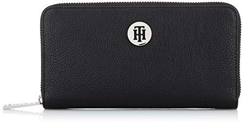 Tommy Hilfiger Damen Th Core Lrg Za Wallet Umhängetasche, Schwarz (Black), 10.2x17.8x2.5cm