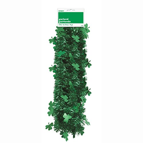 Unique Party Supplies 9 ft St. Patrick 's Day Shamrock Lametta Girlande