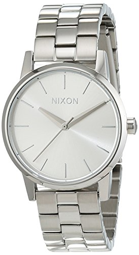 nixon-damen-armbanduhr-small-kensington-all-silver-analog-quarz-edelstahl-a3611920-00