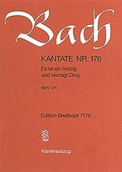 Kantate Bwv 176 Es Ist Ein Trotzig Und Verzagt Ding - Trinitatisfest - Klavierauszug (Eb 7176)