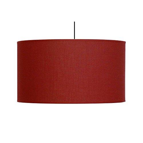 Abat-jour du Moulin - Suspension Cylindre Texture E27 Rouge