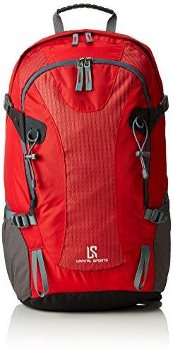 Capital Sports Ridig • Rucksack • Wanderrucksack • Trekking-Rucksack • 38 Liter Fassungsvermögen • Nylon • wasserfest • Regenhaube • gepolsterte Schulter- und Beckengurte