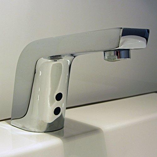 Watermeetsdesign – Infrarot IR Sensorarmatur, Waschtisch, Kaltwasserarmatur, mit Batteriebetrieb, Chrom - 7