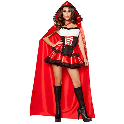 Cosplay, Halloween Castle Queen Cosplay Uniform, Masquerade Little Red Riding Hood Plays ()