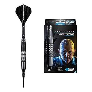 Target Darts Phil Taylor Power 9-Five Gen 4 20G 95% Tungsten Soft Tip Darts Set Dardos, Generation 4, 20 g