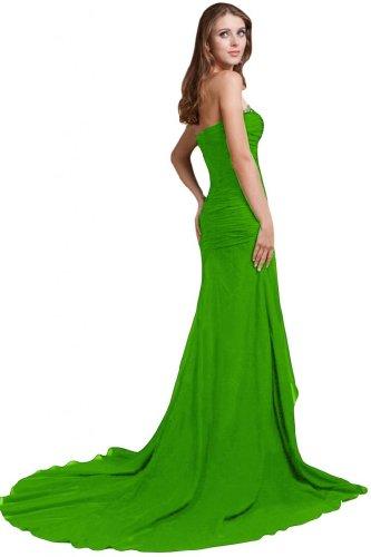Sunvary Fashion una linea Sweetheart Chiffon lungo da sera, abiti Green