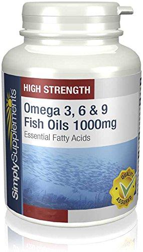 Omega 3, 6, 9 1000mg 240 Capsule ricco di ALA, EPA, DHA e vitamina E Per la salute e il benessere del cuore e della circolazione sanguigna