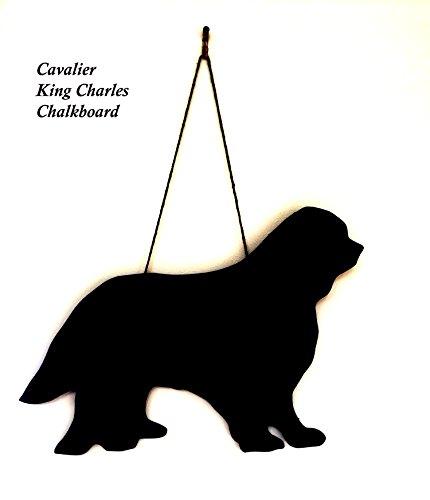 Cavalier King Charles Gift-unici fatti a mano a forma di cane razza lavagna, lavagnetta, lavagna, 6mm in MDF resistente all' umidità (ca. 30,5cm sul lato più lungo-Dimensioni variare leggermente in base alla forma)