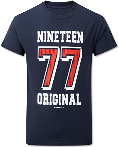 40th Birthday Gifts for Men 1978 (Nineteen 78) Original T-Shirt Navy Blue - 40th Birthday Presents