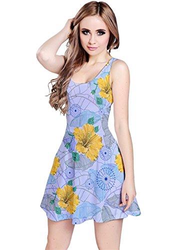 CowCow Damen Kleid Violett Violett - Violet Hawaii 2
