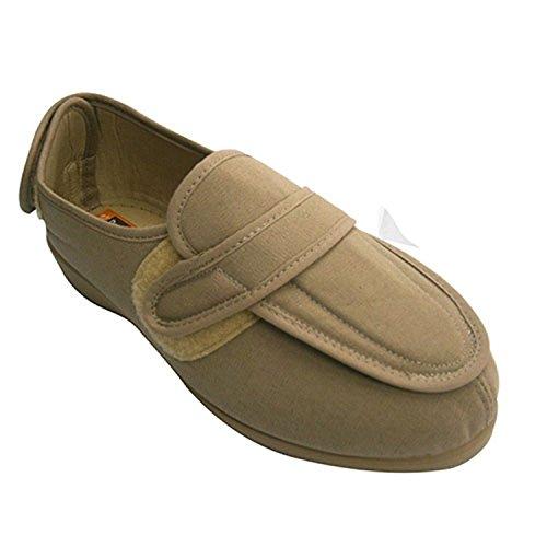 Scarpe donna, molto larghe piedi con velcro tallone e collo del piede Doctor Cutillas tostato taille 35