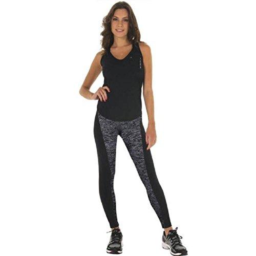 Pantalons de sport GAXU Sport Femmes taille haute Pantalon Athletic Gym Leggings Workout Fitness Yoga Pants Gris