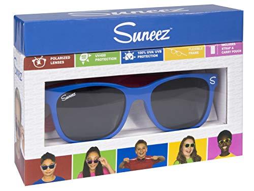 Wicked Unisex-Kinder Bora Sonnenbrille, Mehrfarbig (Blue/Red), 49