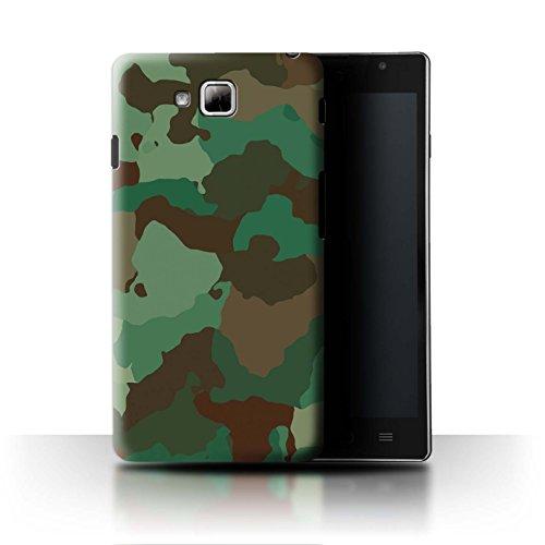 Stuff4® Hülle/Case für LG Optimus L9 II/D605 / Grüner Wald Angriff Muster/Militär Camouflage Tarnung Kollektion (Camo Lg Optimus L9 Case)