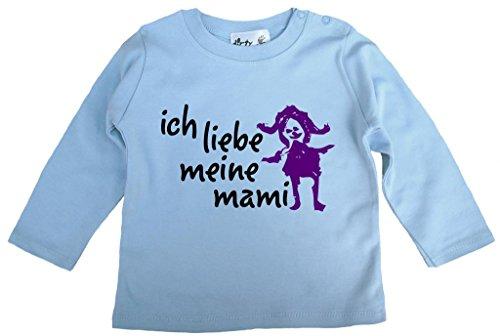 Dirty Fingers, Ich Liebe Meine Mami, Jungen T-Shirt langärmlig, 18-24 m, Hellblau (Ich Liebe Meine Mami-shirt Für Jungen)