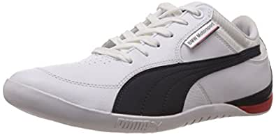 Puma Men's BMW MS Chrono Lo White Leather Sneakers - 12UK/India (47EU)