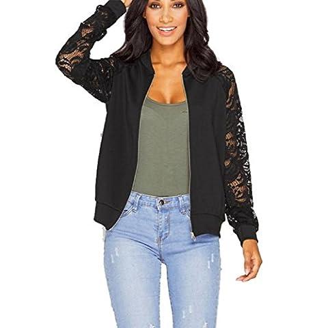 Vovotrade Lange Hülsen-Spitze-Blazer-Klage der Frauen-beiläufige Jacken-Mantel Outwear (EU Size:34,