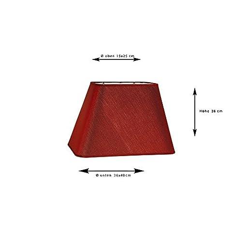 Sorpetaler Leuchtenschirm Lampenschirm Freestyle Rechteck Highred SRT40.30 (Rechteck Lampenschirme)