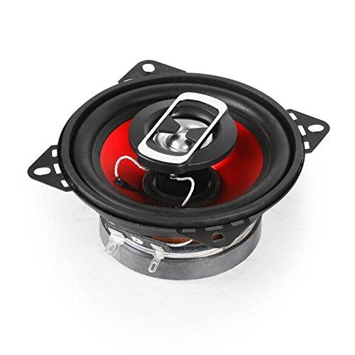 auna SBC-4121 • Haut-parleurs coaxiaux 3 Voies • Paire de Haut-parleurs intégrée • 800 W Max. Puissance • Tweeter au néodyme • Bobine ASV • Charge SPL 89dB • Fréquence: 100 Hz à 20 kHz • Noir-Rouge