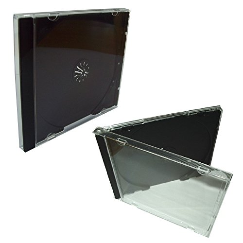 10-quality-clear-transparent-plastic-single-cd-jewel-cases-complete-with-black-tray-compact-disc-pac