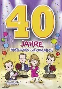 Lustige Geburtstagskarte 40 Amazon De Kuche Haushalt