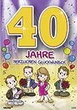lustige Geburtstagskarte 40