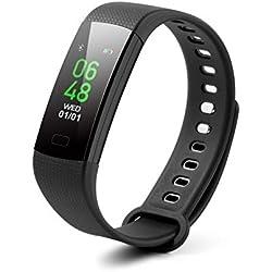 TrendGeek Fitness-Armband TG-HR2 Fitness Tracker mit Pulsmesser Armband Uhr Schlafmonitor Aktivitätstracker Benachrichtigungen Anti Lost Funktion