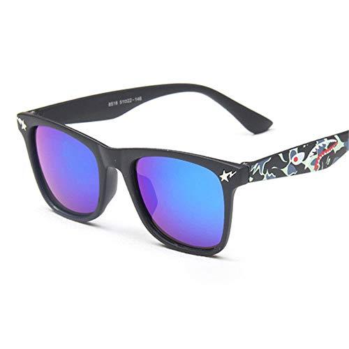 Wang-RX Mode kinder sonnenbrille schwarz rahmen farbe uv400 platz retro kinder sonnenbrille jungen mädchen babys outdoor brillen