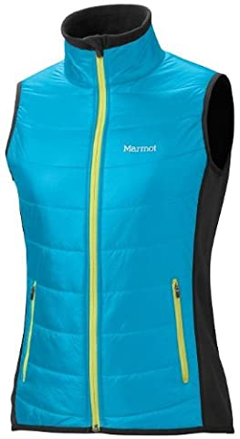 Marmot Damen Weste Power Stretch Variant, blue sea/black, XL, 77440-2463-6