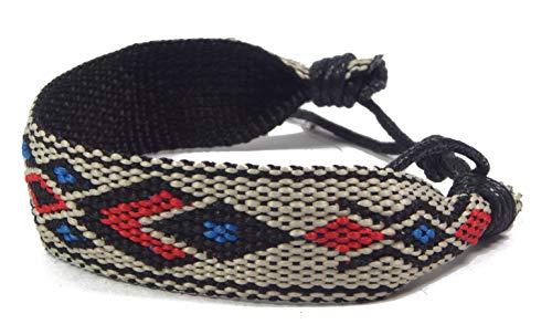 ❤️Pandukan Ethno Surfer Armband, Fusskette, Fusskettchen, geflochten, längenverstellbar | Bohemian/Boho Style (PEZ214)