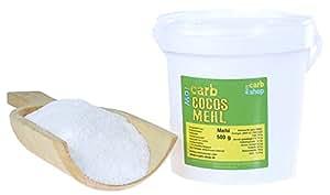 -carb KOKOS Mehl (zuckerreduziert, teilentölt), 500 g