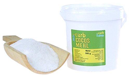 -carb KOKOS Mehl (zuckerreduziert, teilentölt), 500 g -