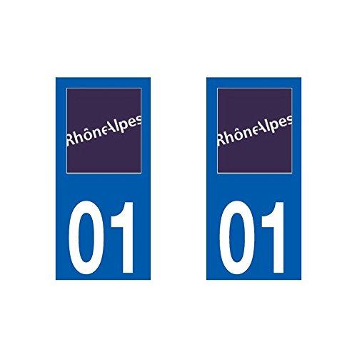 Selbstklebend Number Plate Kennzeichenbeleuchtung für Rhône-Alpes-Region Rhône-Alpes/69 RhôneRegion/state in France