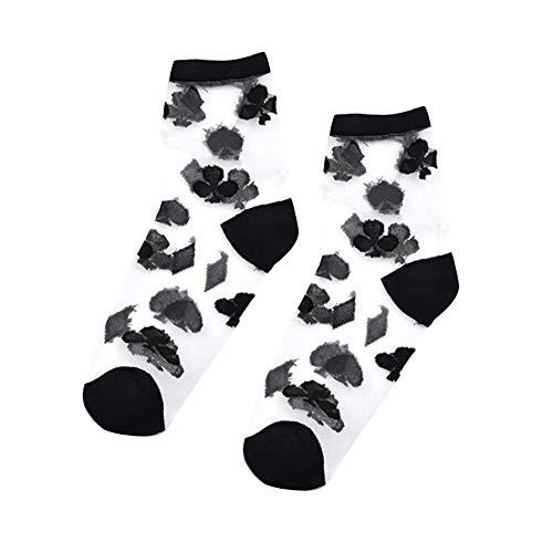 YCGG Frauen Socken Mitte Rohr Socken Baumwolle Socken Feste Damen Casual Sport Socken
