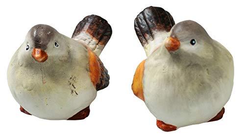 Vögel Aus Keramik Grau Braun Creme 4 Stück Keramik Vogel Tischdeko Sommerdeko Deko Keramikfiguren
