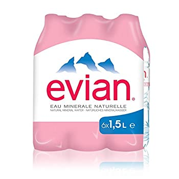 Evian Eau Minérale Naturelle Bouteille 6 x 1,5 L