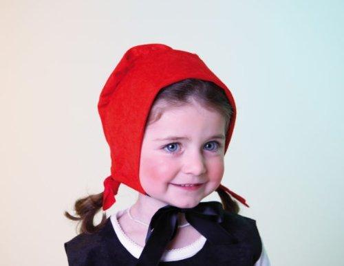 Kinder Karneval Rotkäppchen Haube Zubehör passend zum Märchen Kostüm (Rotkäppchen Kostüm Kinder)