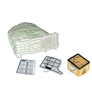 12 Staubsaugerbeutel VLIES !! + Hygienefilter + Motorschutzfilter + 12 x Duft passend für Vorwerk - Kobold 135 / 136 / 135SC / VK135 / VK136