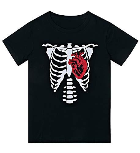 Loveternal Halloween Kostüme Skelett Damen Halloween T-Shirt