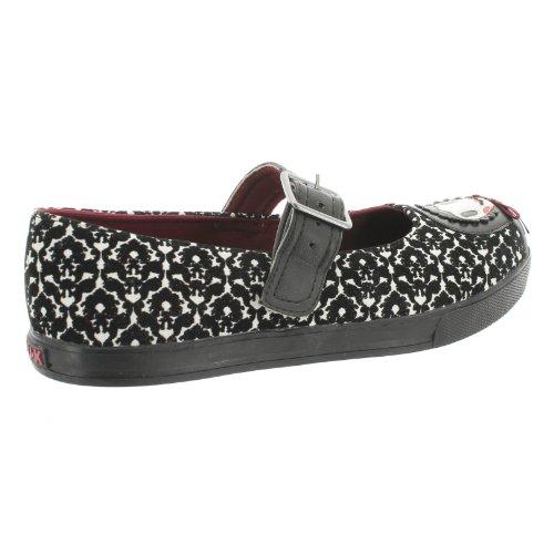T.U.K. Mary Jane Sneaker MATRYOSHKA A8421L black-ivory Black-Ivory