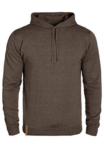 INDICODE Jamir Herren Kapuzenpullover Hoodie Sweatshirt mit Kapuze aus hochwertiger Baumwollmischung Dark Brown (020)