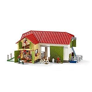Schleich 42333 - Großer Bauernhof mit Tieren und Zubehör, mehrfarbig