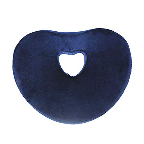 ZCPDP Anti-Dekubitus-Kissen Relief Fatigue Correction Caudal Wirbel Full Package Hohl Atmungsaktive Pflege Schöne Hip Office Computer Stuhl Butt Pad,Navy,33x42x7.5cm - Stuhl Navy Computer