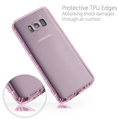 MyGadget Hülle für Samsung Galaxy S8 (2017) - TPU Crystal Case klar Schutzhülle - Backcover slim Handyhülle Silikon Cover dünne Silikonhülle - Transparent Crystal Case Rosa