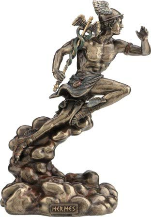 Griechische/römische Mythologie Gott Hermes/Merkur (Dekorative Bronzestatue, Figur 22cm)