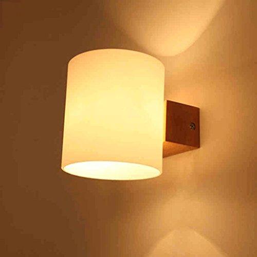lampe de chevet chambre minimaliste moderne de style japonais créative journaux du salon LED balcon mur lampe de couloir nordique